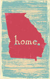 Georgia nostalgic rustic vintage state vector sign. Rustic vintage style U.S. state poster in layered easy-editable vector format Royalty Free Stock Image