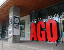 Georgia O`keeffe At The AGO. The first major Canadian Exhibit Of American painter, Georgia O`Keeffe opens at the Art Gallery of Ontario in Toronto, Canada royalty free stock images
