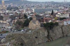 georgia Orizzonte di vecchia Tbilisi Cattedrale Fotografia Stock