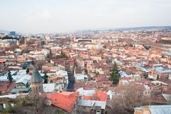georgia panorama- tbilisi sikt Arkivfoto