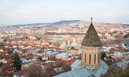 georgia panorama- tbilisi sikt Royaltyfria Foton