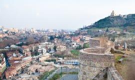 georgia panorama- tbilisi sikt Royaltyfri Bild