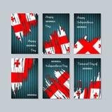 Georgia Patriotic Cards für Nationaltag stock abbildung