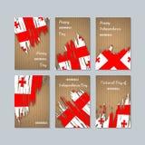 Georgia Patriotic Cards para el día nacional Imagen de archivo libre de regalías