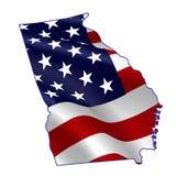 Georgia por completo de la bandera americana Fotos de archivo