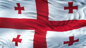 GEORGIA Realistic Waving Flag Background Images libres de droits