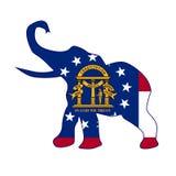 Georgia Republican Elephant Flag Royalty Free Stock Photos