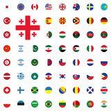 Georgia round flag icon. Round World Flags Vector illustration Icons Set. Georgia round flag icon. Round World Flags Vector illustration Icons Set Royalty Free Stock Photo