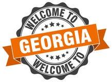 Georgia round ribbon seal Royalty Free Stock Image