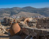 Georgia`s Giant Clay Pots Hold An 8000-Year-Old Secret To Great Wine.  royalty free stock photo