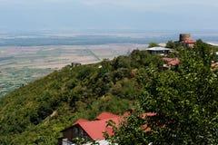 Georgia Sighnaghi: Stad av förälskelse i den Alazani dalen Royaltyfri Fotografi