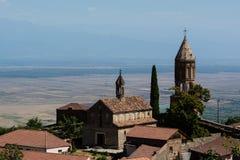Georgia Sighnaghi: Stad av förälskelse i den Alazani dalen Royaltyfria Bilder
