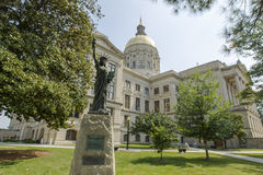Georgia State Capital. The Georgia State Capitol, in Atlanta, Georgia, in the United States, is an architecturally and historically significant building. It has royalty free stock photography