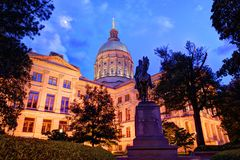Georgia State capitol royaltyfri fotografi