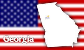 Georgia state contour Stock Photos