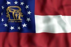 Georgia State flag Stock Images