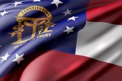 Georgia State flag Stock Photos