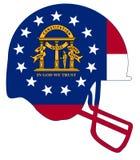 Georgia State Flag Football Helmet Fotografía de archivo libre de regalías