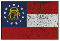 Georgia State Flag Grunged Images stock