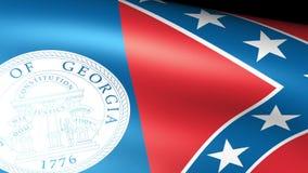 Georgia State Flag Waving stock de ilustración