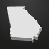 Georgia State map in gray on a black background 3d Royalty Free Stock Photos
