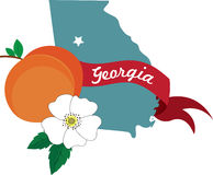 Georgia State Peach Royalty Free Stock Photography