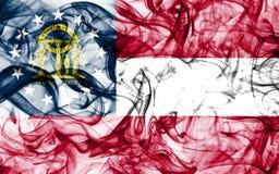 Georgia state smoke flag, United States Of America.  stock photography