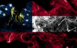 Georgia state smoke flag, United States Of America.  royalty free stock photo