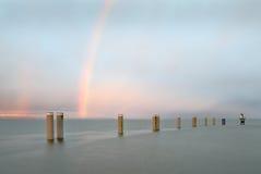 Georgia Strait Rainbow Arkivbild