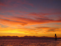 Georgia Strait Sunset, British Columbia Royalty Free Stock Photos