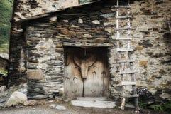 Georgia,SVANETI, country house. Georgia,Gruzia,Saqartvelo, Svaneti house in Ushguli village royalty free stock images