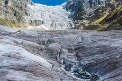 georgia Svaneti Glaciär Adishi - Lardaad Arkivbild