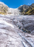 georgia Svaneti Glaciär Adishi - Lardaad Arkivfoton
