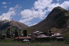 Georgia, Svaneti towers in mountains Stock Photography