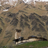 Georgia, Svaneti towers in mountains Stock Image
