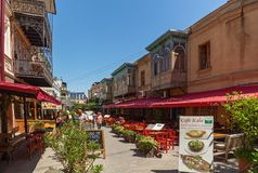 Restaurants and bars in Tbilisi. stock photo