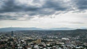 georgia tbilisi område moscow en panorama- sikt Tid schackningsperiod stock video