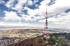 Georgia Tbilisi TV broadcasting tower Stock Photos