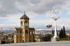 Georgia Tbilisi widok miasta Zdjęcie Stock