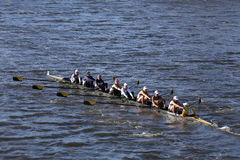 Georgia Tech races in the Head of Charles Regatta Women's Collegiate Eights Stock Photo