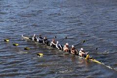 Georgia Tech races in the Head of Charles Regatta Women's Collegiate Eights Stock Photography