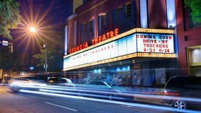 Georgia Theatre. In Athens, GA. Though the historic venue was mostly damaged by fire in 2009, it has been newly renovated with state-of-the-art facilities Royalty Free Stock Photo