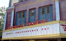 Georgia Theatre Photographie stock