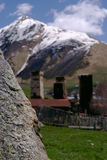 Georgia, torres de Svaneti en montañas Fotos de archivo libres de regalías