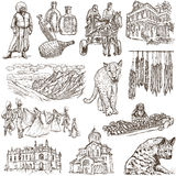 Georgia (travel collection) - full sized hand drawn illustration Royalty Free Stock Photography