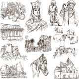 Georgia (travel collection) - full sized hand drawn illustration Royalty Free Stock Image