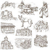 Georgia (travel collection) - full sized hand drawn illustration Stock Image