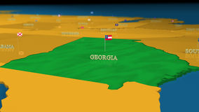 Georgia - United States Series with flags Royalty Free Stock Images
