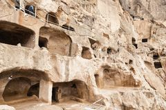 Vardzia. Hole, dwelling. Royalty Free Stock Photos