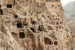 Vardzia. Hole, dwelling. Royalty Free Stock Photo